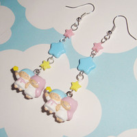NEW Little Twin Stars Kawaii Stars Dangle Earrings