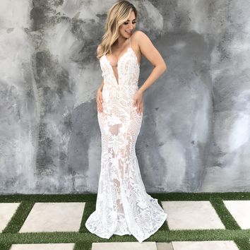 Lost In This Moment White Maxi Dress