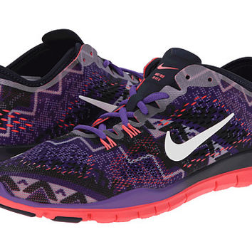 Nike Free 5.0 TR Fit 4 Print Obisidan/Hyper Grape/Hyper Punch/Ivory - Zappos.com Free Shipping BOTH Ways