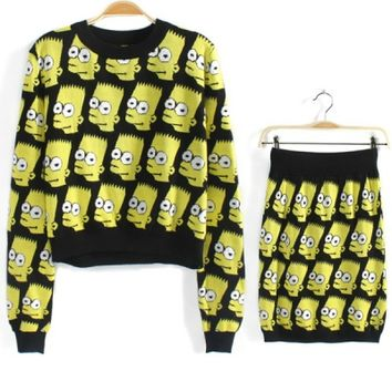 Simpson Graphic Knitted Suits - OASAP.com