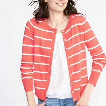 Classic Striped Cardi for Women|old-navy