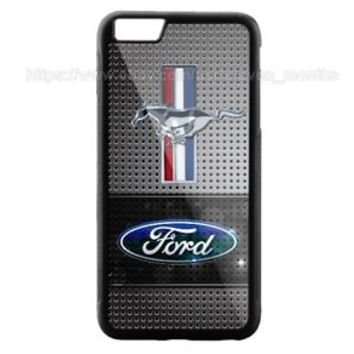 New Ford Mustang Silver iPhone Samsung 5 5s 6 6s 7 8 Plus Edge Hard Plastic Case