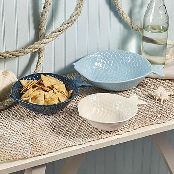 Fish Ceramic Serving Bowl