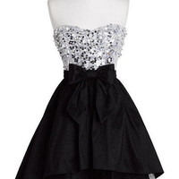 Strapless Exposed Tulle Dress