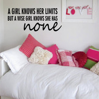 Marilyn Monroe Limits Quote Decal Sticker Wall Vinyl Decor Art