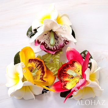 White Paradise Hawaiian Flower Hair Clip