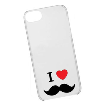 iphone case,i love mustache clear,iphone 5 case,iphone 4/4s case,samsung s3,s4 case,accesories,cell phone,hard plastic.
