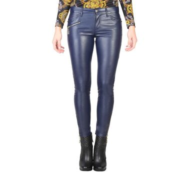 Versace Jeans Women's Blue Legging