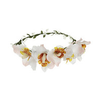 Lilly Hair Garland - White