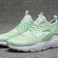 Best Online Sale Nike Air Huarache 4 Rainbow Ultra Breathe Women Mint Green Running Sport Casual Shoes Sneakers - 924