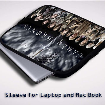 Game Of Thrones Characters Z0183 Sleeve for Laptop, Macbook Pro, Macbook Air (Twin Sides)