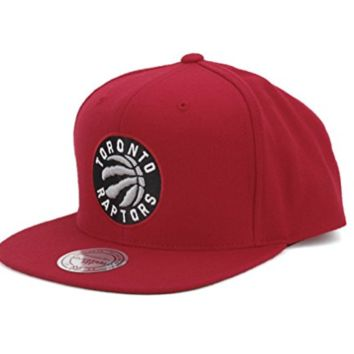 Mitchell & Ness Toronto Raptors Wool Solid Snapback Red