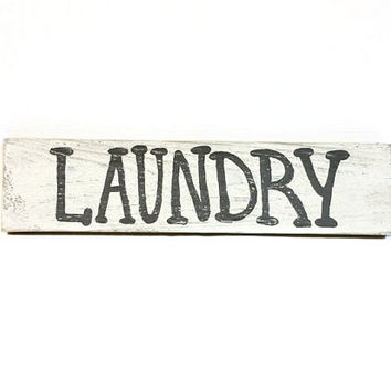 Rustic, Wood Sign, Laundry Wall Decor, Wood Laundry Sign, Laundry, Sign, Hand Painted, Reclaimed Wood Sign, Lettering, Laundry Room Decor