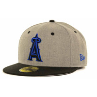 Los Angeles Angels of Anaheim MLB Gray Hound Fitted 59FIFTY Cap