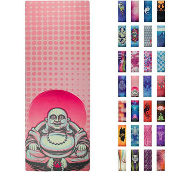 Yoga Mat , Prana Yoga Mat , Bikram Yoga Mats For Men and Women - 4mm Thick - Incredibly Comfortable , Durable Exercise Rubber Floor Mats - Gorgeous Microfiber Printed Designs – Soul Obsession