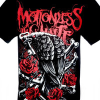 Motionless In White Bones Rock Band Graphic Tee 100% Cotton T Shirt Size M L