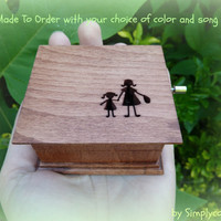 wooden music box, music box, customized music box, custom made music box, mommy and me, mother daughter gift, mother of the bride gift
