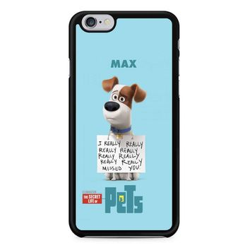 The Secret Life Of Pets Max Poster iPhone 6/6s Case