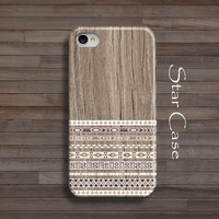 iPhone 4/ 4s and 5/ 5s Case,  Tribal Wood Aztec Geometric on Wood iPhone 4 5 Hard Case, Aztec iPhone 5 Cover, BOHO Aztec Navajo iPhone Cases