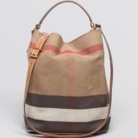 Burberry Brit Hobo - Susanna Canvas | Bloomingdale's