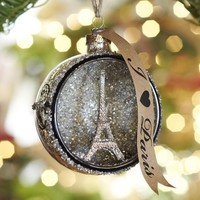 PARIS ORB GLASS ORNAMENT