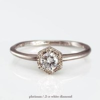 Catbird :: shop by category :: JEWELRY :: Wedding & Engagement :: Hexagon Ring, White Diamond