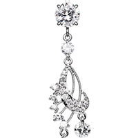 Dazzling Harp Elegance Belly Button Ring
