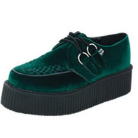 Dark Green Velvet Creepers from T.U.K.
