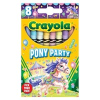 Crayola Pick your Pack Pony Party Crayons - 8 Count