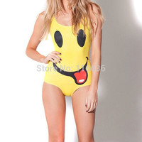smiling face  One Piece Swiming Suit New 2014 Fashion Girl  Free shipping