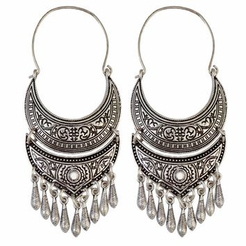 Bohemian Indian Antique Silver/Gold Amazing Earrings