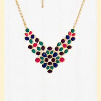 Francesca's Collections- Delicate Demeanor Necklace in Purple