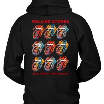 DCCKG72 The Rolling Stones Licks World Tour Hoodie Two Sided