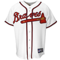 Majestic Atlanta Braves White Replica Baseball Jersey