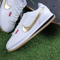 Best Online Sale Mister Cartoon x Nike Cortez Basic QS White Gold Sport Running Shoes Sneaker AA4875-004