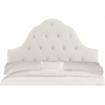 Wake Up Frankie - Parisian Headboard - White Velveteen : Teen Bedding, Pink Bedding, Dorm Bedding, Teen Comforters