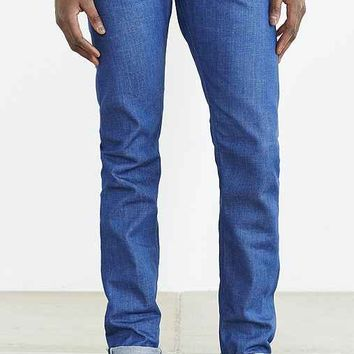 Big John Slim Tapered Gloss Blue Selvedge Jean- Vintage Denim Medium
