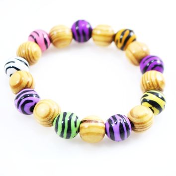 Zebra Stripes Acrylic Mix Bracelets