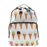 "Fashion ""Ice Cream Cones"" Backpack"