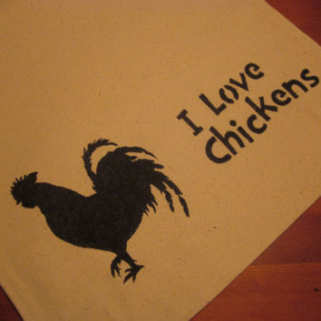I love chickens Cotton Canvas Shopping Bag