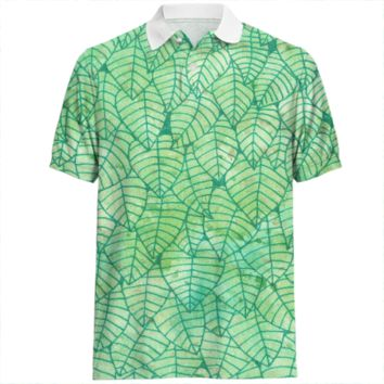 Green foliage Polo Shirt