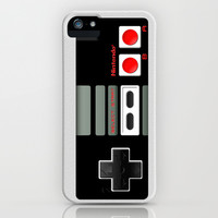 Classic retro Nintendo game controller iPhone 4 4s 5 5c, ipod, ipad, tshirt, mugs and pillow case iPhone & iPod Case by Three Second