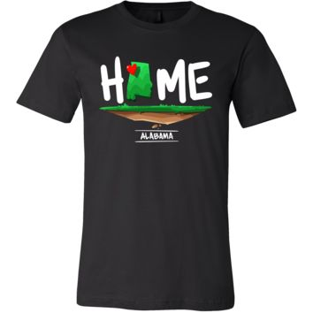 Alabama Home Horizon Sunset USA State Map Shirt