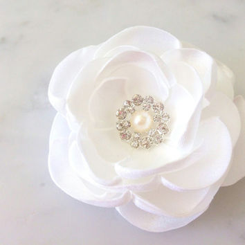 Ivory hair flower Wedding hair flower Hair accessories Bridal Flower head piece Ivory Bridal accessories Bridal hair piece Wedding Hair clip