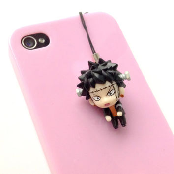 Trafalgar Law Dust Plug, Anime One piece charm, Halloween Frankenstein, iphone, One piece keychain, Anime charm, Nintendo 3DS, PS Vita