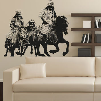 Vinyl Wall Decal Sticker Riding Samurai #5036