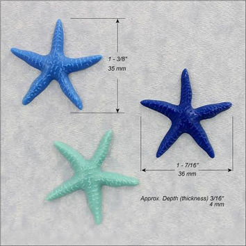 Starfish Silicone Mold for polymer clay, fondant, wax, pmc, chocolate, sugar (140)