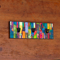 Wall Coat Rack Handmade Paper by calyrew on Etsy