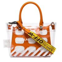 OFF-WHITE Orange Alert PVC Tote by Heron Preston