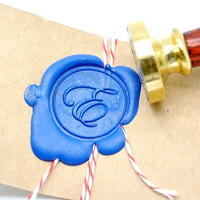 Personalized Custom Initial Gold Plated Wax Seal Stamp x 1